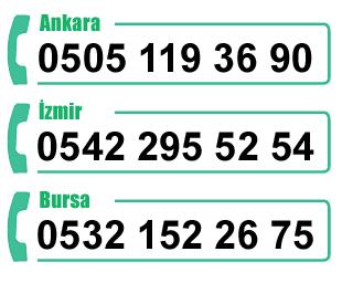 Ankara, İzmir ve Bursa