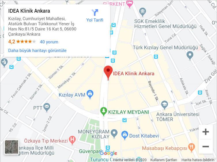 Ankara IDEA klinik Çankaya'da