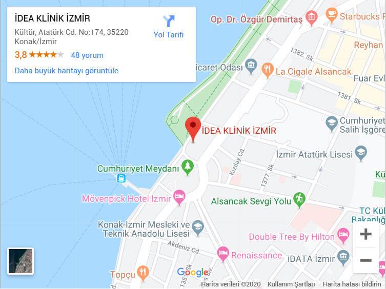 İzmir IDEA Klinik Konak ilçesinde